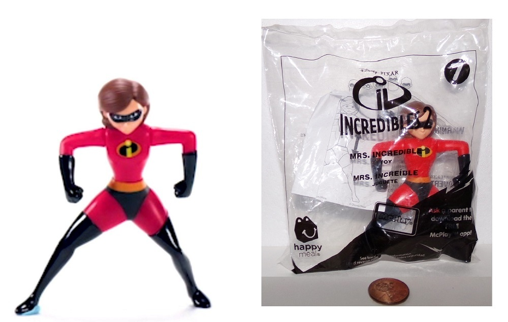 Mrs. Incredibles 2 McDonald's Happy Meal Toy #7 June 2018 - $5.99