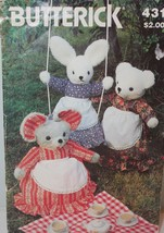 Butterick 431 Pattern Stuffed Rabbit Mouse Bear and Clothes Uncut - $3.99