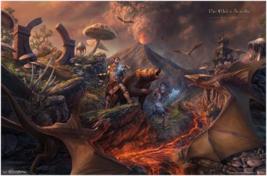 Elder Scrolls Online Battle Scene Poster - $39.00