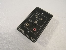 Extron Wall Plate Computer Video PC Audio Black Stereo Audio Connectors ... - $21.79