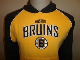 Sewn Reebok Boston Bruins NHL Gold Black 80-20 Hooded Hoodie Sweatshirt ... - $23.27