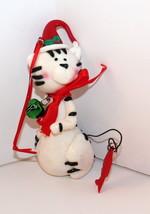 White Kitty Cat w.Jingle Bell-Ornament By Kurt Adler-Display Sample-Holi... - $5.00