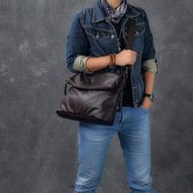 Sale, Full Grain Leather Men Shoulder Bag, Stylish Men Messenger Bag, Laptop Bag image 1