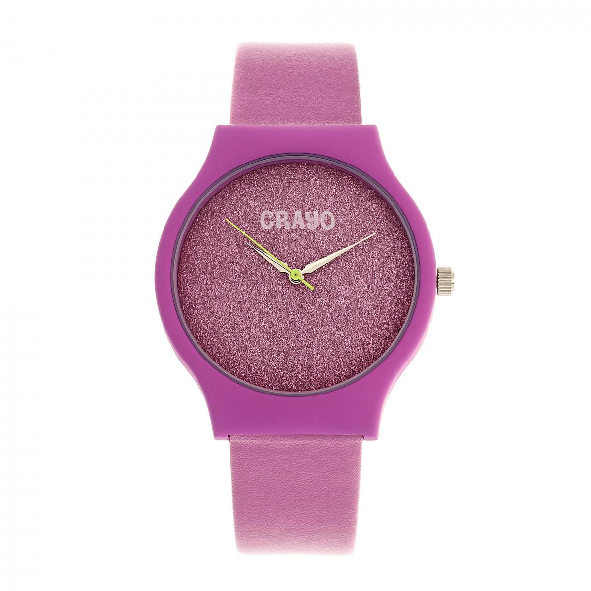 Crayo Glitter Strap Watch - Hot Pink - £113.26 GBP