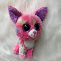 Ty Beanie Boos Cancun Chihuahua Dog Pink Plush Stuffed Toy Glitter Eyes ... - $7.69