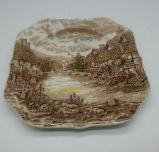 """Johnson Brothers Olde English Countryside Square Salad Plate 7.5"""" Vintage 1970s - $9.49"""