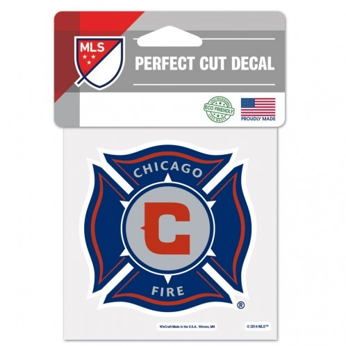 Chicago Fire Decal 4x4 Perfect Cut Color**Free Shipping** - $13.50