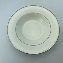 Mikasa Super Strong Cameo Platinum Rimmed Soup Salad Bowl Fine China 9 Inch - $11.86