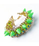 Imitated Gold Color Women Chain Edged Punk Bracelets In Bracelets & Bangles - $24.16