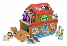 2 Item Activity Set-Melissa & Doug Noah's Ark Shape Sorter + Free Activi... - $39.55
