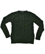 Ralph Lauren Mens Jumper Hand Knitted Linen Size Medium Black Label - $270.59