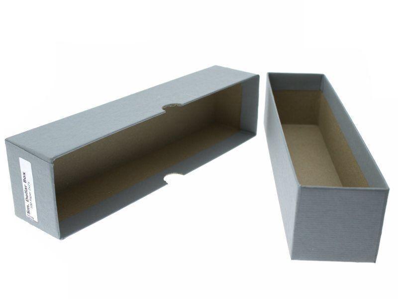 "Guardhouse Grey Small Dollar Coin Storage Box, 2x2x8.5"""