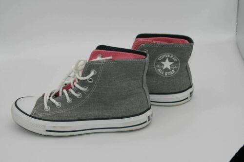 Converse Chuck Taylor High Top Fold Down Tri-Colored Grey Sparkle Glitter Size 5 - $27.89