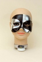 Silver And Black Domino Psycho 1/2 Adult Satin Eye Mask - $7.59