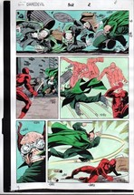 1992 Daredevil 302 page 2 color guide production art: 1990's Owl/Marvel ... - $99.50