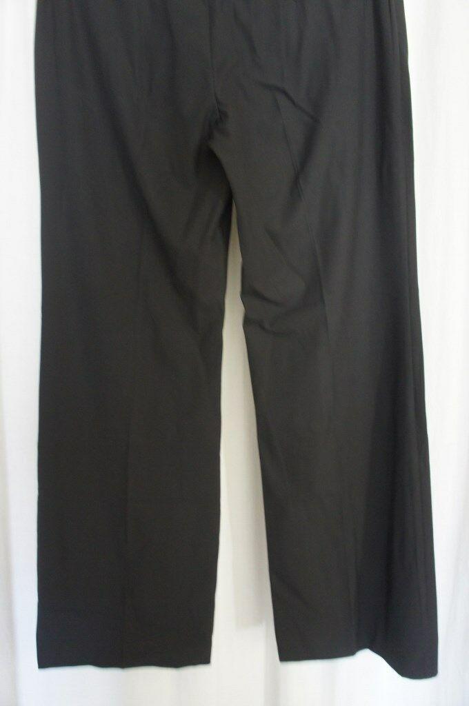 INC International Concepts Dress Pants Sz 16 Deep Black Wide Leg Regular Fit   image 4