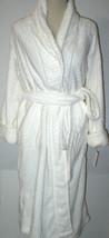NWT New Natori White Velour Robe Womens Long Very Soft Pockets M Lush Ri... - $123.50