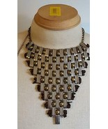 "RARE 16""CHUNKY STATEMENT BALL AND CHAIN METAL BIB NECKLACE,UNIQUE,ARTSY,... - $49.49"