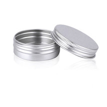 Mini Silver Box Aluminium 30ml 5Pcs Empty Sample Container Cosmetic Pack... - $5.84