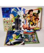 New Fun Toy Story Stationary Set w/ Notebook, 2 Folders, 45 Stickers, Bo... - $11.88