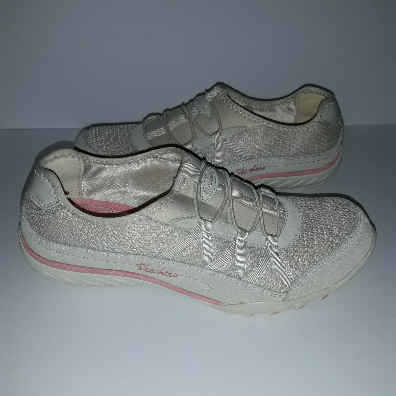 Women's Skechers Relaxed Fit Savvy Baroness shoe Size 9 Natural/Pink