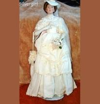 Flora The 1900'S Bride Porcelain Collector Doll - $250.00