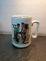 1985 Norman Rockwell Museum Coffee Mug Cup  Nautical River Pilot - $10.89