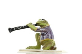 Hagen Renaker Miniature Frog Toadally Brass Band Clarinet Ceramic Figurine