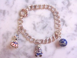 Womens Vintage Sterling Silver Charm Bracelet made in Italy, 22.1g #E4111 - $70.00
