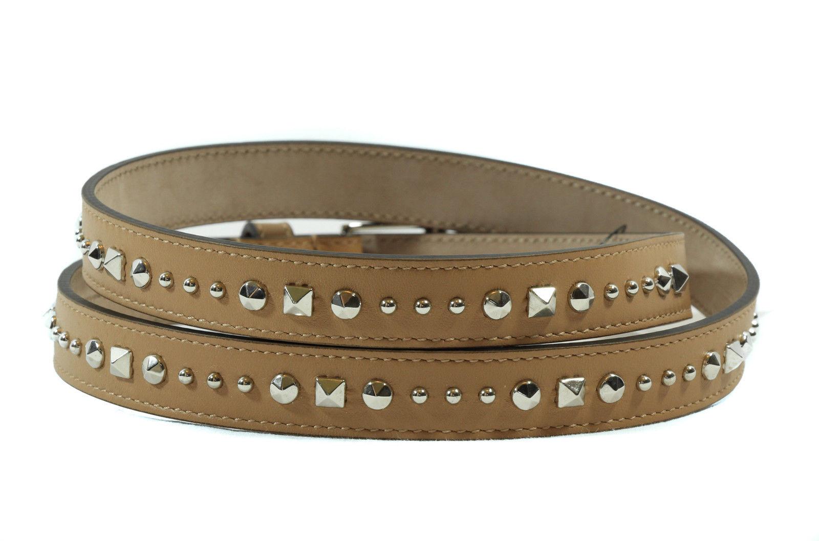 0651a3c25bb24 NWT GUCCI 380561 Studded Leather Belt