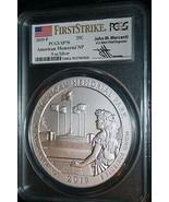 2019-P AMERICAN MEMORIAL First Strike PCGS MS 70 John Mercanti 5OZ Silver  - $416.08