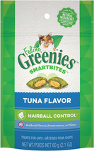 Feline Greenies Smartbites Hairball Control Cat Treats Tuna Flavor 2.1 Oz. - $5.99+