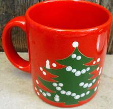 Red Christmas Tree Waechtersbach Mug Cup West Germany - $18.99