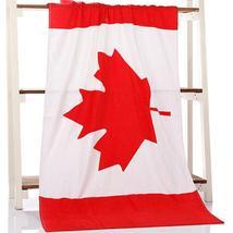 Canada Flag Bath Towel Soft Microfiber 27.5inch x 55 inch (70 cm x 140 cm) - $19.99