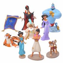 Disney Store JAPAN Aladdin Jeanie Jasmine Aladdin Abou Raja Jafar Figure set  - $76.23