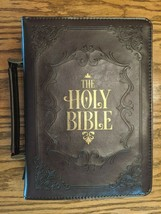 "Bible Cover Large 7"" x 10 1/8"" x 1 7/8"" Holy Bible Cover Dark Brown - $24.99"