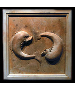Pisces Zodiac Wall Relief Sculpture Plaque (Feb 19 - Mar 20) - $68.31