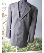 Hugo Boss Gray Pinstripe  Wool Mens Jacket Blazer Size 40R - $49.49