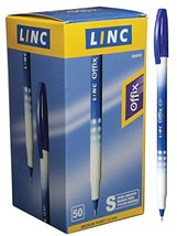 Linc Offix Smooth Ball Point Pen, 1.00mm Tip, 50-Count, Blue - $10.49
