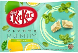 Nestle KitKat Premium Citrus Mint Mini Biscuit 12 Mini Biscuits ( Pack of 2 ) - $17.81