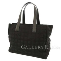 CHANEL New Travel Line Tote MM Nylon Jacquard Leather Black A15991 Authe... - $467.50