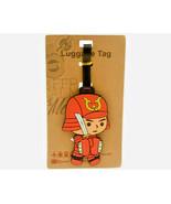 Shogun Luggage Tag PVC Baggage Cartoon Travel 6 Inch ID Airline Plane US... - $6.99