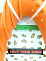 """Rubber Wishbone Dog Toy Orange 10.5"""" Long, Boots & Barkley, For Large Dogs NEW image 3"""