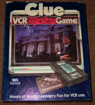 CLUE VCR MYSTERY GAME PARKER BROTHERS VHS 1985 2 DECKS SEALED CARDS EXCE... - $15.00