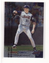 1999 Topps Finest #58 Chuck Finley Anaheim Angels Collectible Baseball Card - $0.99