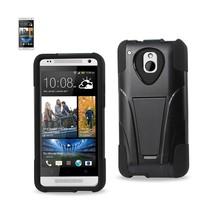 REIKO HTC ONE MINI M4 HYBRID HEAVY DUTY CASE WITH KICKSTAND IN BLACK - $7.35