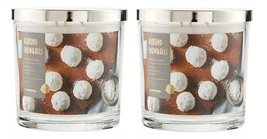 Sonoma Almond Snowballs Scented Candle 14 oz- Almond Peppermint Cookies Lot of 2 - $38.50