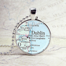 IRELAND Map Pendant Necklace Jewelry, Vintage Map Jewelry, Antique Map A... - $11.95