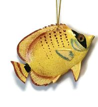 Caribbean Reef Tropical Angel Fish Ornament 82 Yellow 4 Inches - $15.98