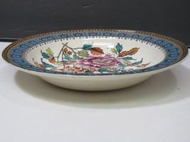 Antique Copeland Spode Chelsea Bird Blue Pedestal Plate Low Enameled Cak... - $99.00
